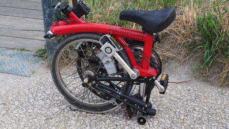 vélo bromption plié rouge