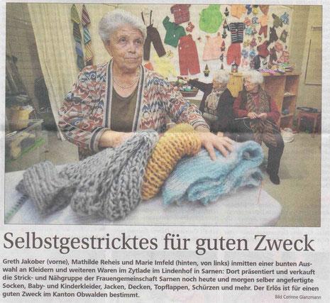 Bericht Obwaldner Zeitung vom 14.11.2013