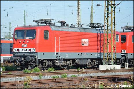 143 344-0 (MEG 605) ruht sich gemeinsam mit zwei Schwestermaschinen am 10. Oktober 2015 in Leipzig Hbf. aus