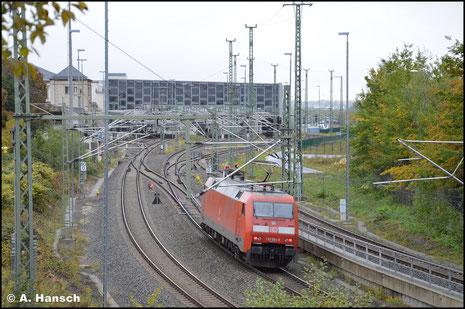 Am 15. Oktober 2020 rollte mir zufällig 152 004-8 vor die Linse, auf die am Hbf. Chemnitz dann nur ein Nachschuss möglich war