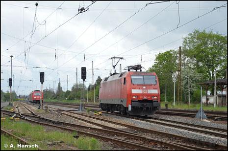 152 062-6 rollt am 14. Mai 2021 in die Abstellung in Leipzig-Wiederitzsch