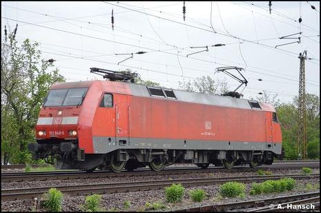 152 048-5 rollt am 14. Mai 2021 Lz durch Leipzig-Wiederitzsch