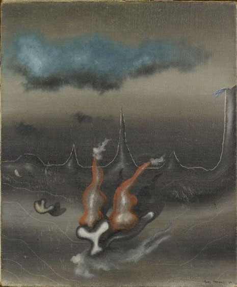 Yves Tanguy,Creación II,1927.El pintor francés Yves Tanguy fue un miembro destacado del grupo surrealista parisiense. Su obra fue considerada paradigmática del movimiento por André Breton y,en los cuarenta,ejerció una fuerte influencia sobre los jóvenes.