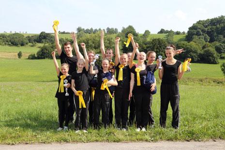 Siegerfoto Kreismeister 1. Platz M*-Team und Einzel Holzgerlingen 2014