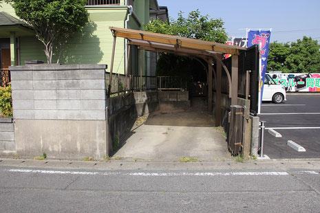 外構工事前(那珂川市 K様邸)駐車場拡張前