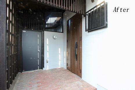 新規玄関ドア・勝手口ドア(施工後)