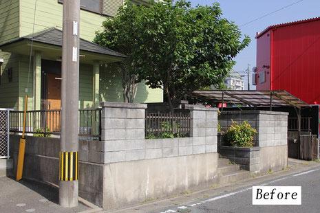 外構工事前(那珂川市 K様邸)バイクガレージ施工前