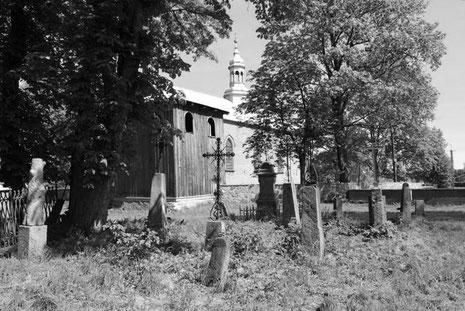 Cmentarz przykościelny w Żmijewie Kościelnym, Stan w 2005 roku [Fotografie dzięki uprzejmości p. Grzegorza z Białegostoku]