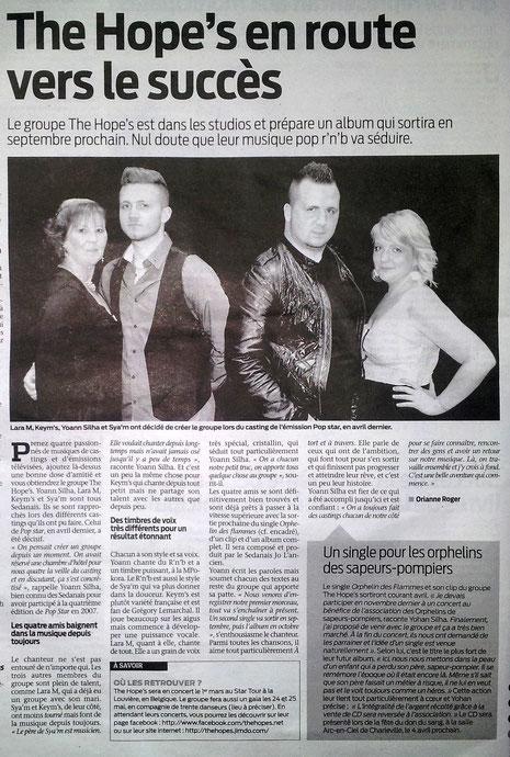 """Article dans """" La Semaine Des Ardennes """""""