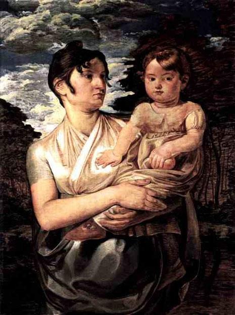 Портрет жены художника с сыном. 1807