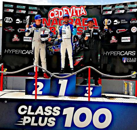 2. Platz Siegerpodest Grand Prix Croatia Dennis Bröker 2020 Chevrolet Cruze Eurocup Grobnik