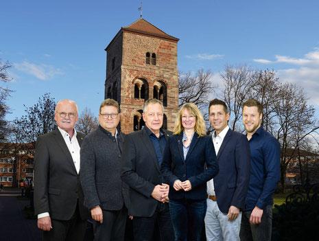 Fotomontage v.l.: Günter Exner, Thomas Schaffert, Gunter Grimm, Silvia Schoenemann, Andreas Rey und Jan Saal