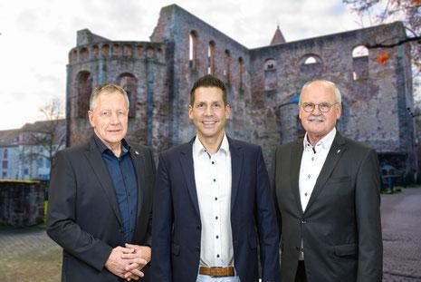 Fotomontage CDU, v.l.: Gunter Grimm, Andreas Rey und Günter Exner