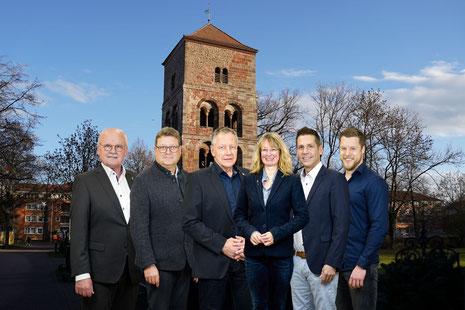 v.l.: Günter Exner, Thomas Schaffert, Gunter Grimm, Silvia Schoenemann, Andreas Rey und Jan Saal