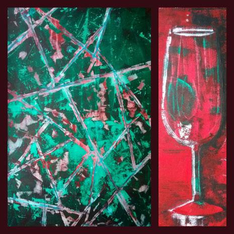 Collage aus: Leben im Glas, Glas (Broken Glass)