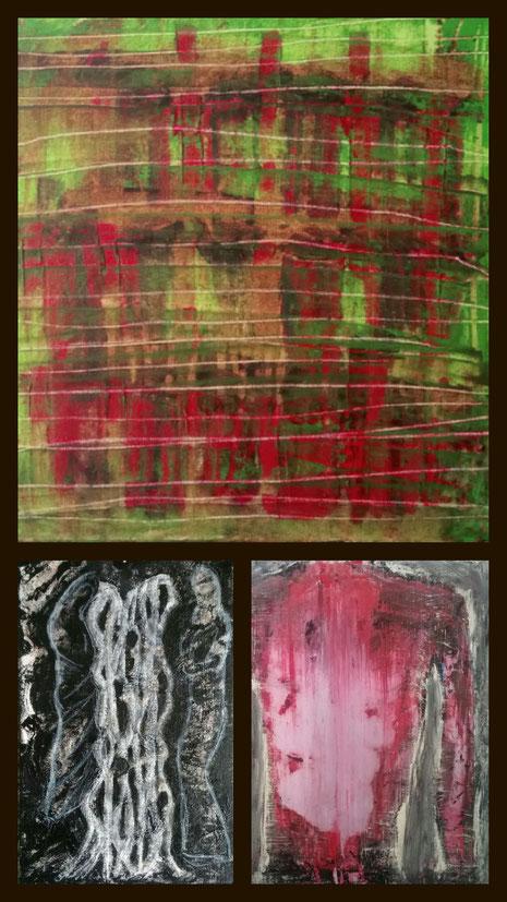 Arts and Violence at Nicole Kraebber Arts Online Exhibition Collage aus: Garten der verlorenen Söhne, It was not my decision, Die Verborgenen