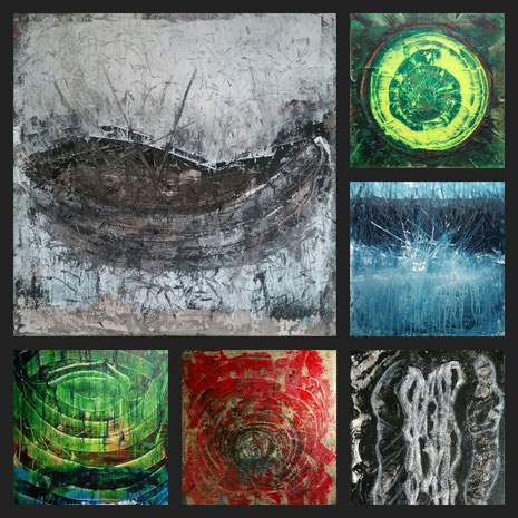 Collage aus:Das Boot (Die Wiege), Genesis, Einschlag, Ringe (Spiegelung), Die Katakombe, Die Verborgenen