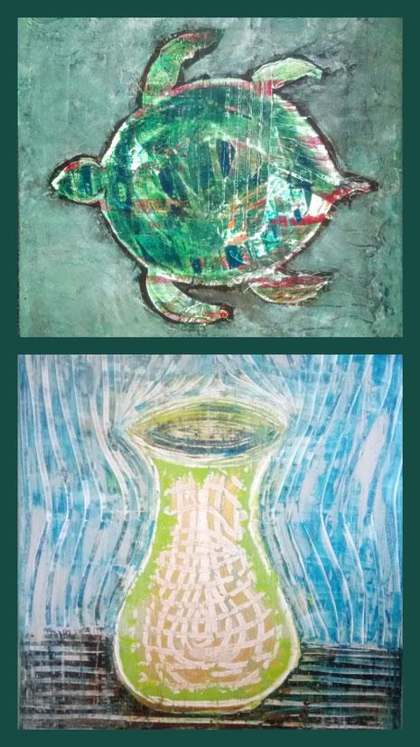 Collage aus: Aura, Die Schildkröte