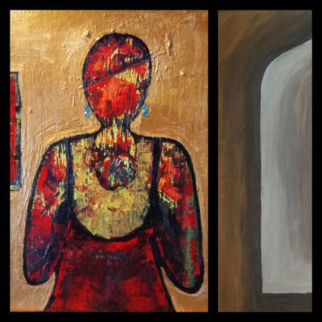 Collage aus: Maria, Die Fenster zum Hof