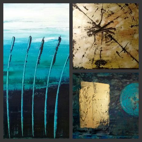 Collage aus: Am See, Die Gestirne, Zwischen den Welten