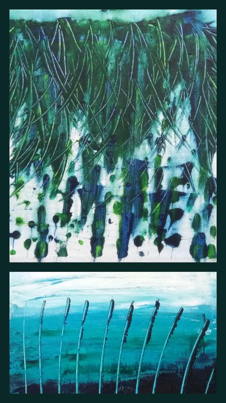 Collage aus: Dünen I, Am See
