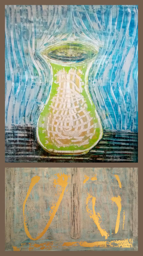 Collage aus: Aura (Weiblichkeit), Begegnung