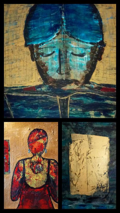 Collage aus: Mein Königreich, Maria, Die Gestirne