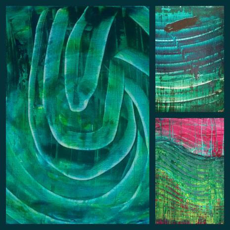 Collage aus: Hinterm Licht, Nacht am Wasser, Wellen