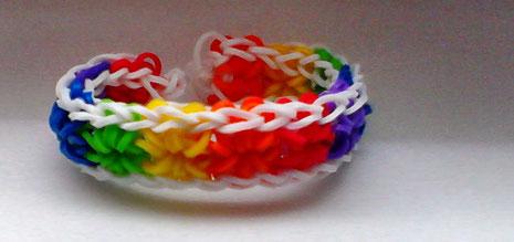 Rainbow Loom Starburst Armband