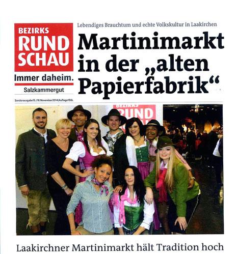 Modeschau  am Sonntag 16.11.2014 Gmundner Trachtenalm