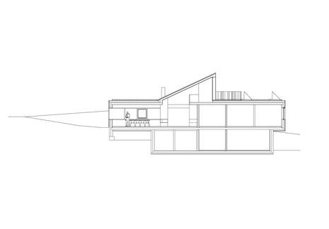 Neubau EFH Hööracker, Hallau I Längsschnitt