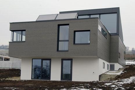 Neubau EFH Hööracker, Hallau I Holzfassade