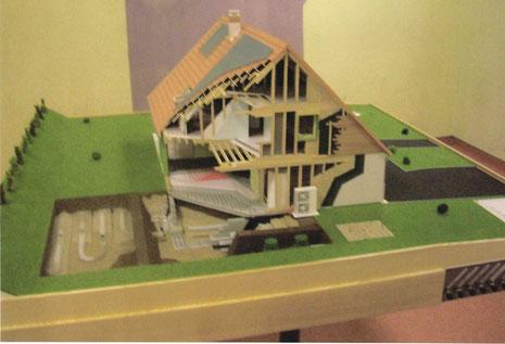 Ralisation DUne Maquette DUne Maison cologique  BreuilSur