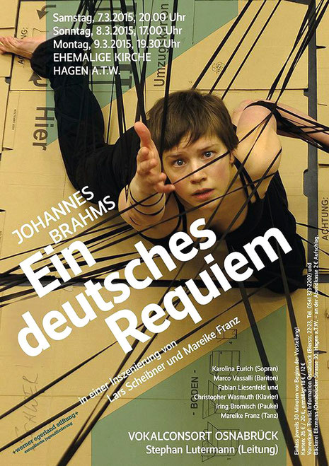 "poster ""Ein deutsches requiem"", J. Brahms; photo: Lars Scheibner"