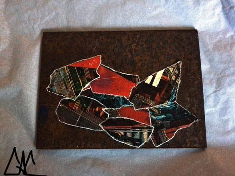 Plaque de métal encollée - Charlie Art Clyde © 2015 -