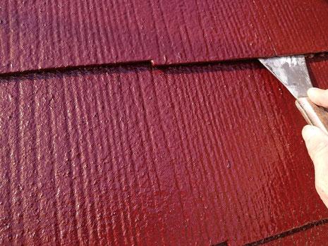 海津町、南濃町、平田町、養老町、輪之内町、羽島市、祖父江町、八開村、立田村、長島町、多度町、北勢町で屋根塗装工事中の屋根塗装工事専門店。南濃町で屋根塗装工事/縁切り作業中