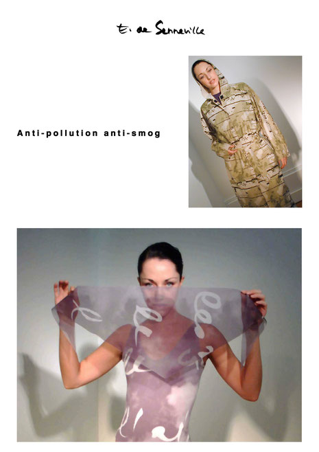Ce masque anti pollution a été présenté lors de la Cop 21 ainsi qu'au défilé innovation en 2016 à Avantex Le Bourget