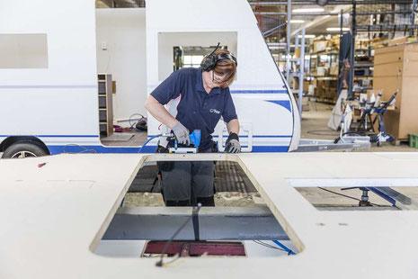 Herstellung eines Polar Wohnwagens