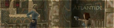 Natla s'apprête à empêcher Lara de tirer sur le Scion.