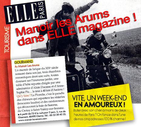 Manoir les Arums dans ELLE Magazine !