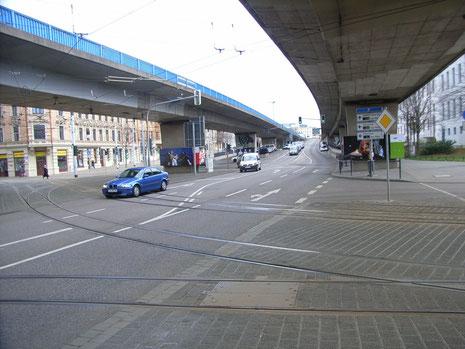 Hochstraße am Franckeplatz . . . . Foto: DR.W.Kelling