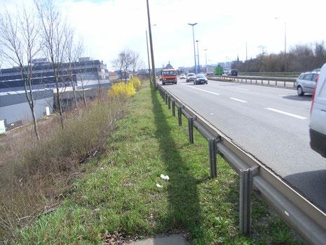 Hochstraße parallel zur Mannsfelderstraße