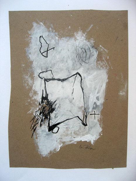 Ohne Titel, bemaltes Backpapier auf Papier 2016, 60 x 50 cm
