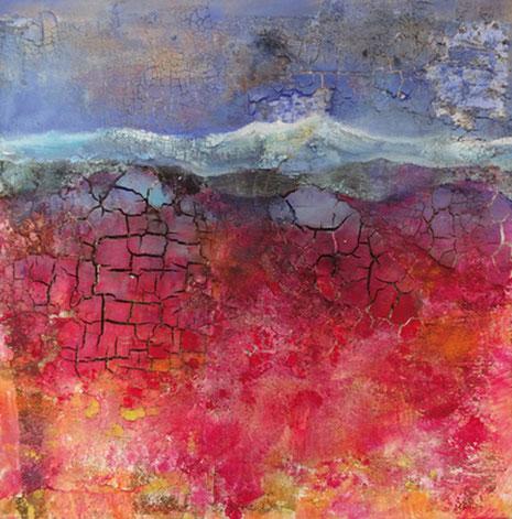 Ohne Titel, Acryl, Spachtelmasse auf Leinwand 2015, 60 x 60 cm