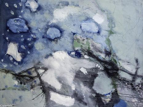 Ohne Titel II, Öl auf Leinwand 2014, 110 x 145 cm