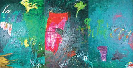 Voodoo, Öl auf Leinwand 2000, 280 x 450 cm