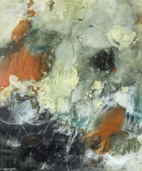 Ohne Titel, Acryl auf Leinwand 2014, 130 x 110 cm