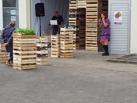 Installation 'Der Turm' Andréa Bryan und Elektronische Musik Fatagaga (Foto: Höppner)