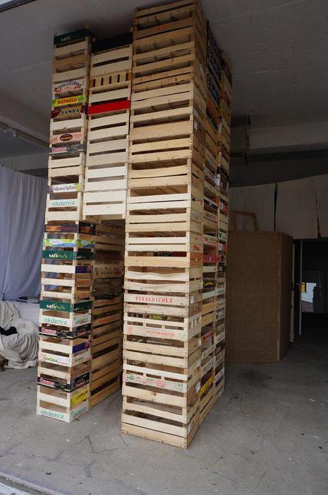 Installation 'Der Turm' Andréa Bryan (Foto: Bryan)