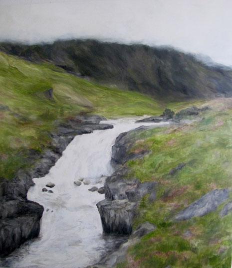 Ohne Titel, Eitempera auf Leinwand 2014, 130 x 150 cm